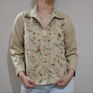 Tantrums Embroidered Long Sleeve Vintage Vest